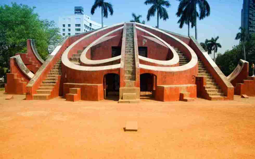 Jantar Mantar in Jaipur, India, which you can see from the top of Hawa Mahal.
