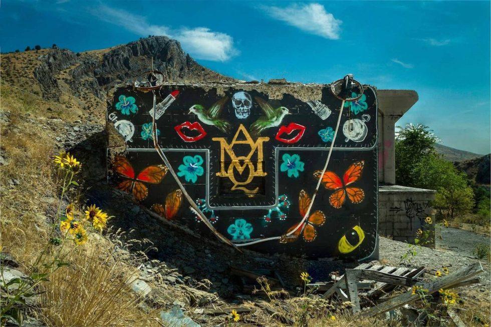Alexander McQueen handbag created by Thrashbird for the Valley of Secret Values project in Oregon.
