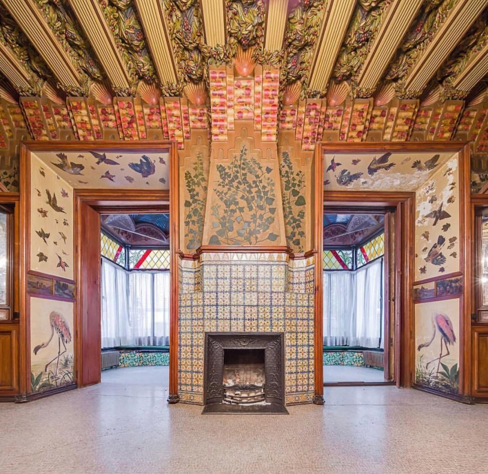 """Inside """"Casa Vicens"""" in Barcelona, Spain."""