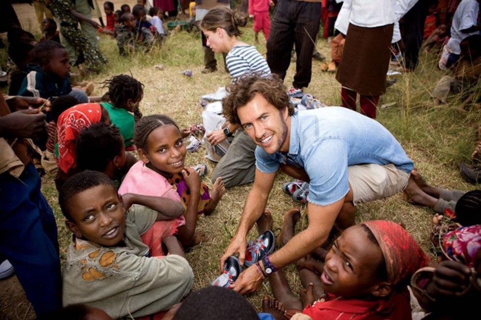 American entrepreneur and philanthropist Blake Mycoskie.