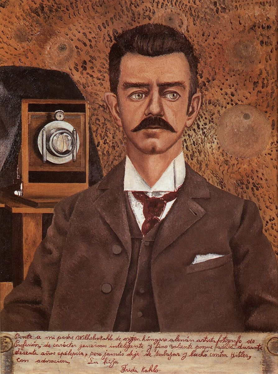 Portrait of My Father, 1951. Oil on masonite, 60.5 x 46.5 cm. Museo Frida Kahlo, Mexico City.