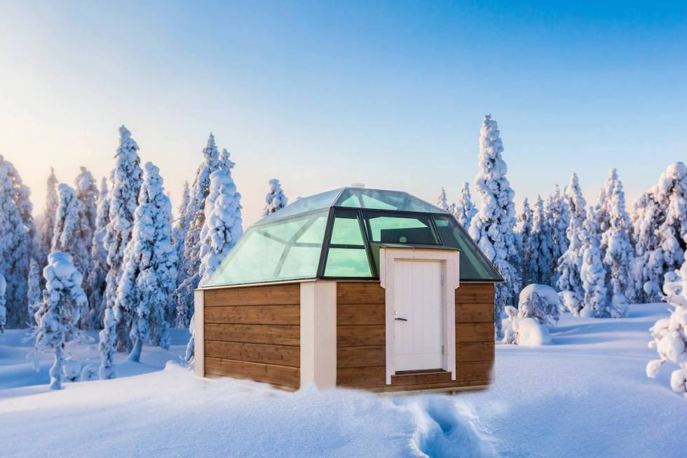 The roofs of the igloos of Arctic SnowHotel & Glass Igloos in Sinettä, Finland, are made from electrically heated glass. (Photo by Marko Junttila)