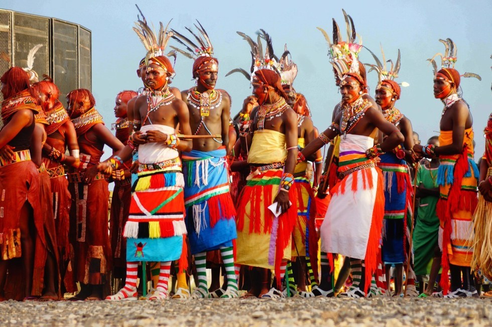 Turkana people during a cultural festival in Kenya, Africa.