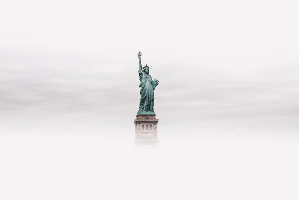 The Statue of Liberty in New York City, USA.