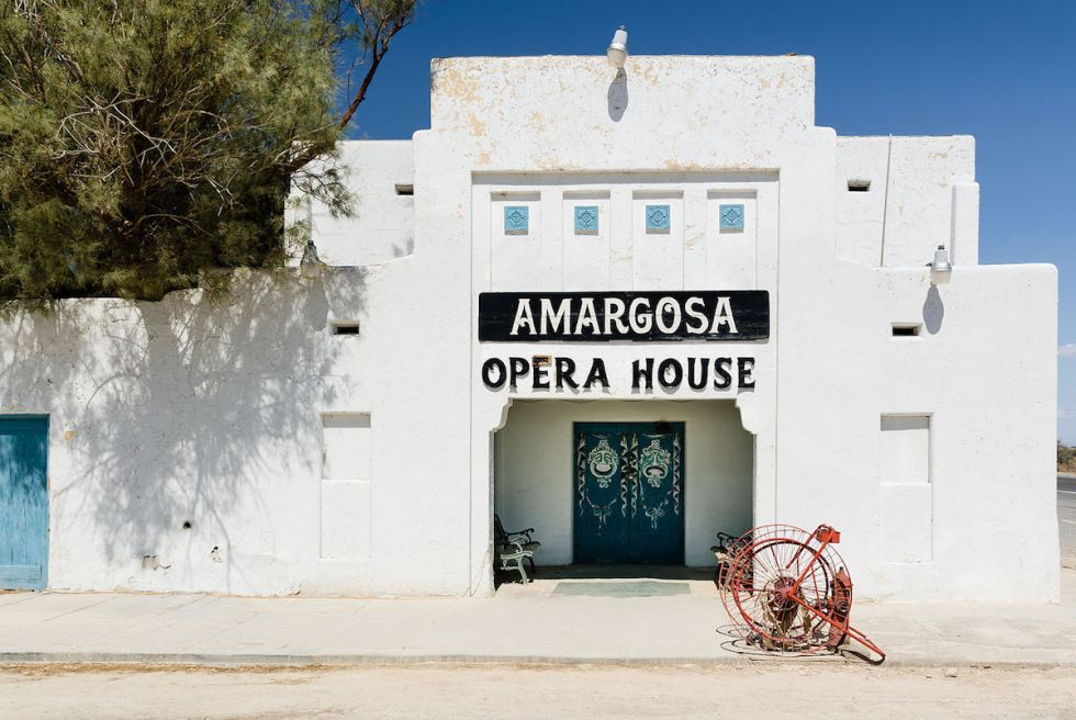 "The ""Amargosa Opera House"" exterior in Death Valley Junction, California."