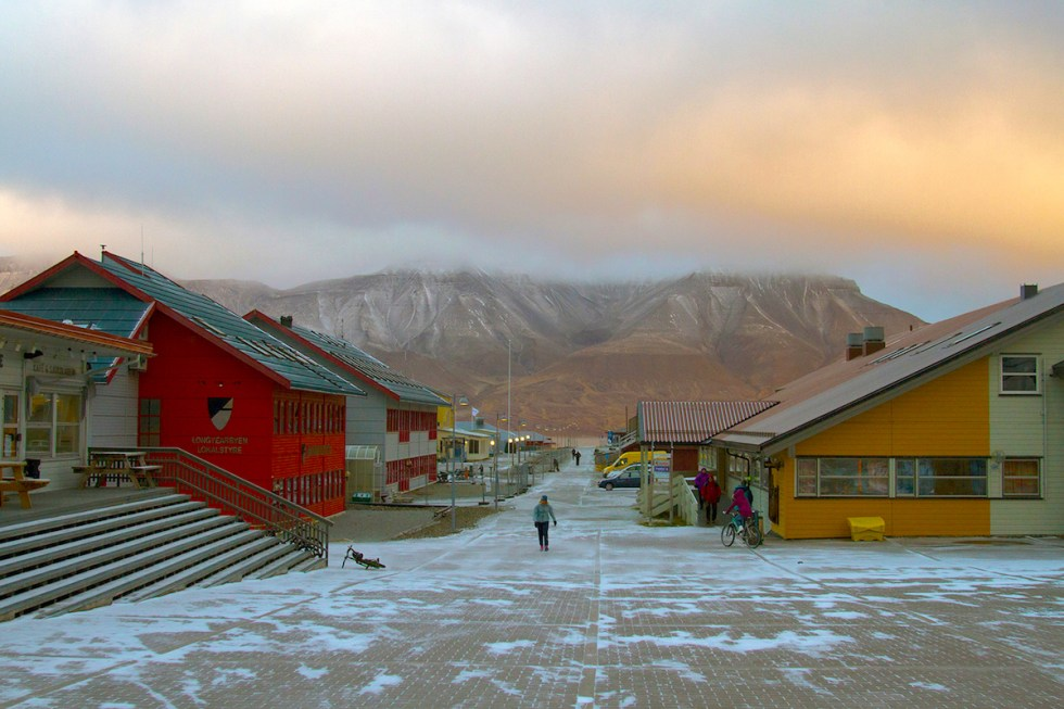 The town of Longyearbyen in Norway.