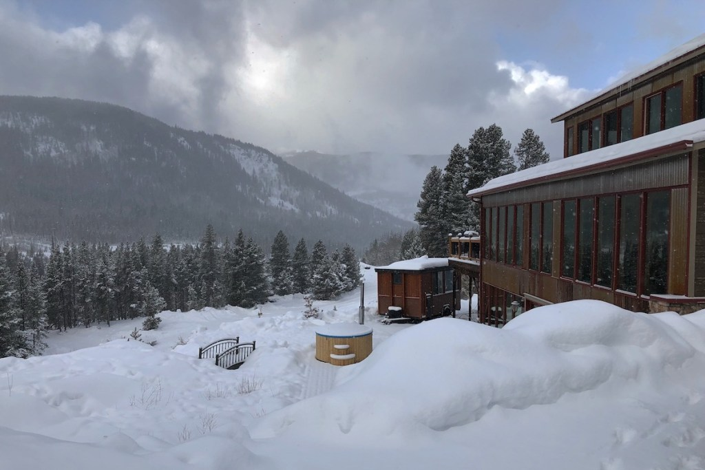 """The exterior of """"Snow Cross Inn"""" in Red Cliff, Colorado."""