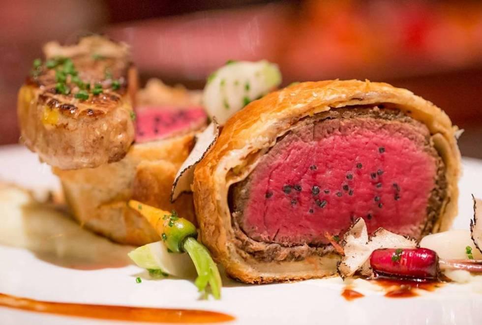 Delicious meal served at Gordon Ramsay Steak restaurant in Las Vegas, Nevada