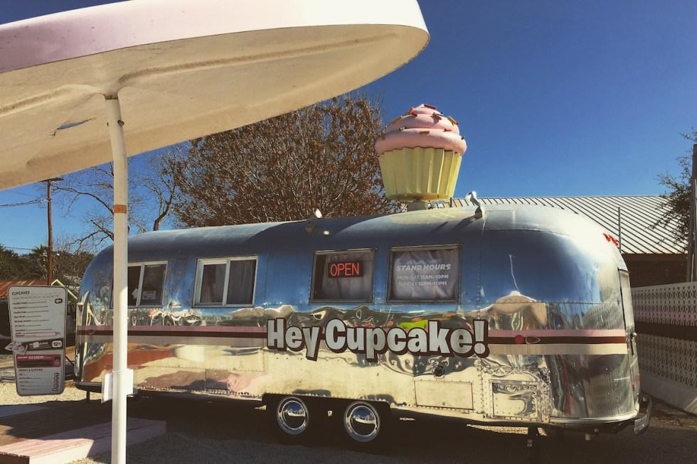 Hey Cupcake!'s sleek Airstream trailer in Austin, Texas.