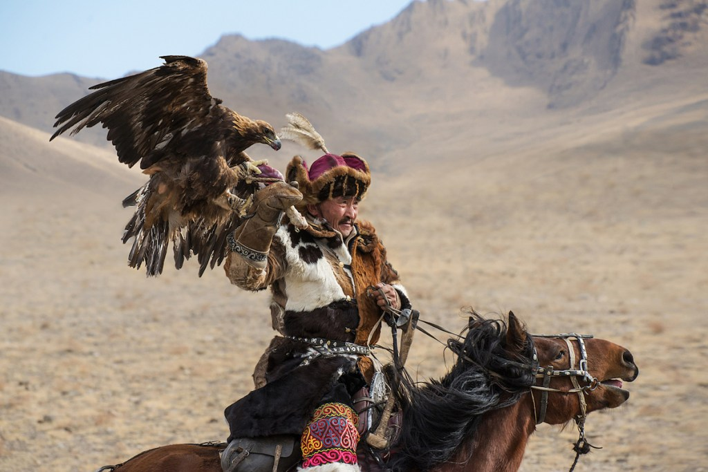 Kazakh eagle hunter
