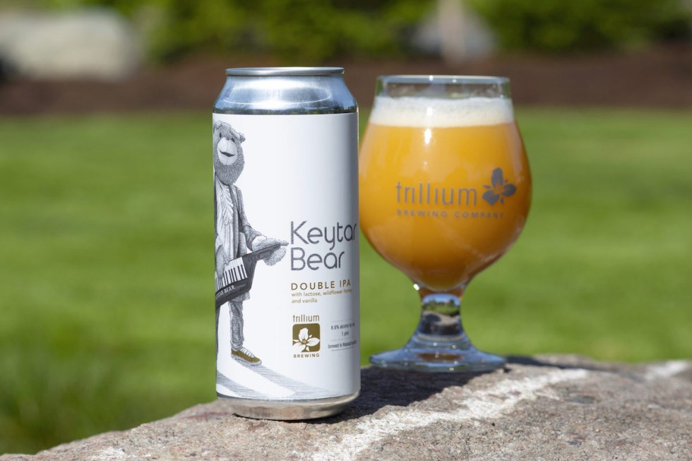 The Keytar Bear Double IPA that was created by Trillium Brewing Company in Boston, Massachusetts.