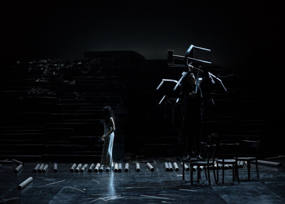 Photo depicting a scene from Dimitris Papaioannou's work Since She.