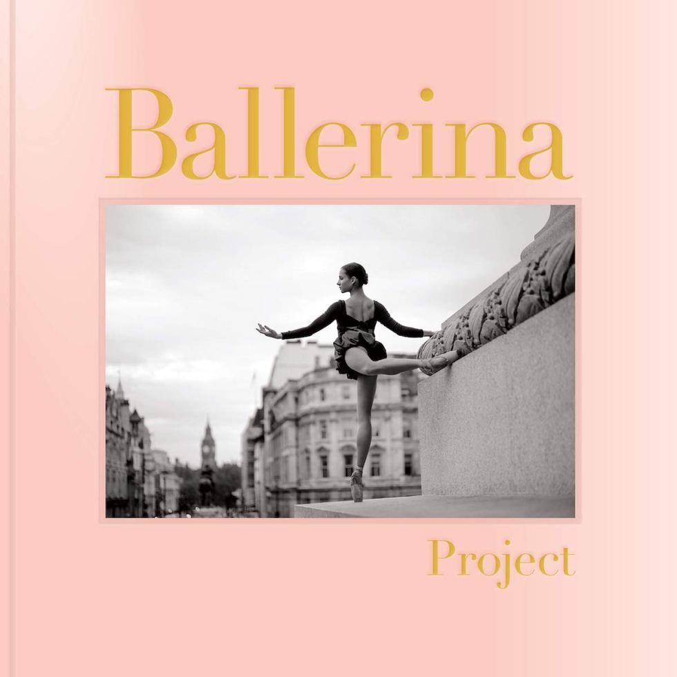 """Featuring over 170 ballerina photographs, the """"Ballerina Project"""" book is bound in ballet pointe shoe-like satin pink cloth with gold foil stamping."""