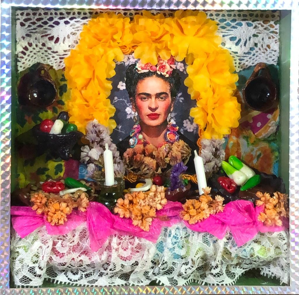 Frida Kahlo Day of the Dead mini altar