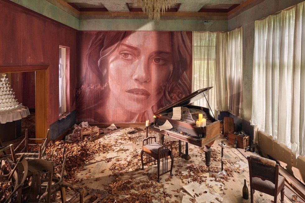 Empire art installation created by Australian artist Rone.