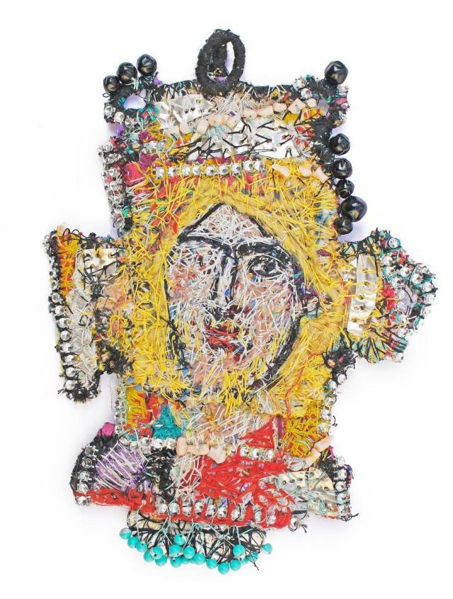 Christ pectoral after a mosaic at Daphni [Monastery] - Pendant, 2019, Loukia Richards for The Sacred & The Profane Jewelry Show.