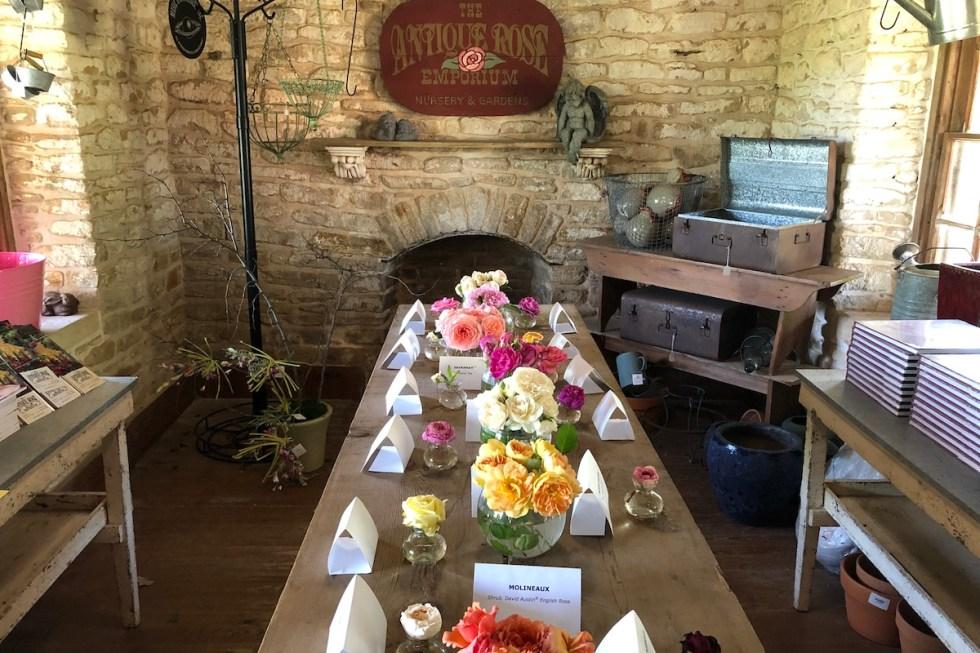 The Antique Rose Emporium Nursery & Gardens in Brenham, Texas.