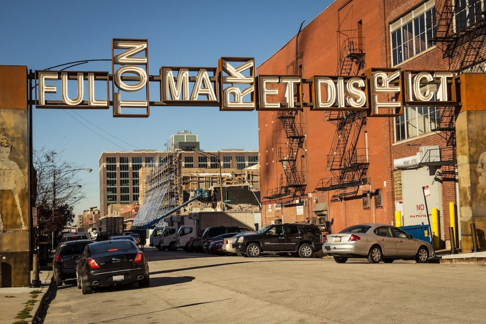 Fulton Market District in Chicago, United States.