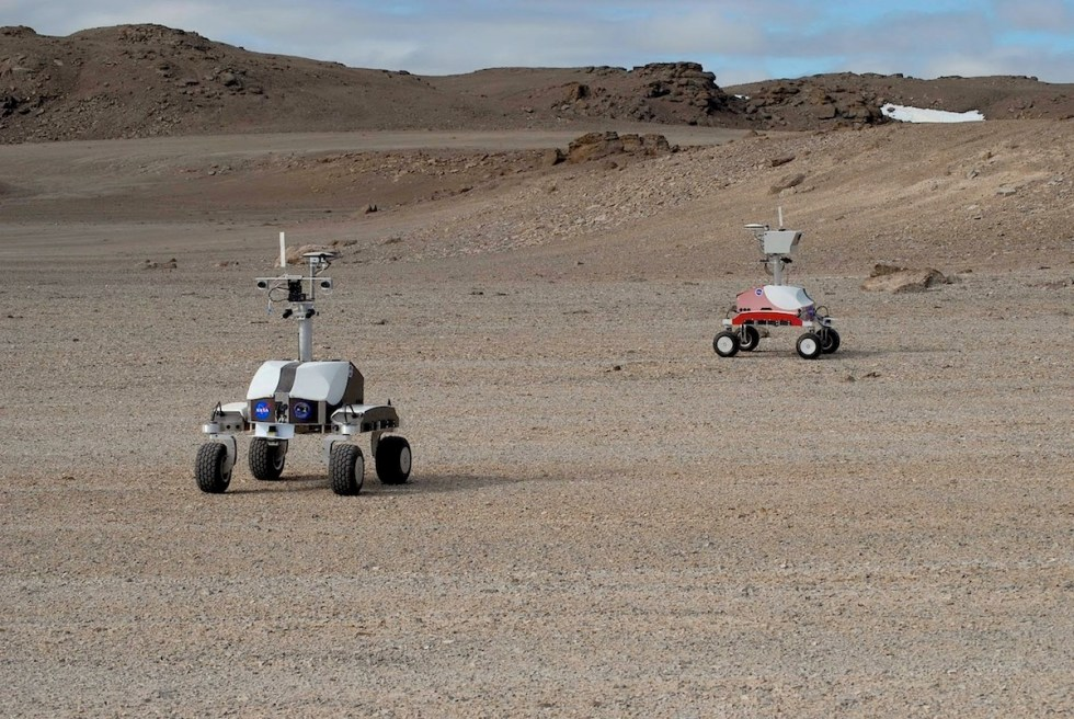 "NASA's ""baby-rovers"" taking pictures on Devon Island, Nunavut, Canada."