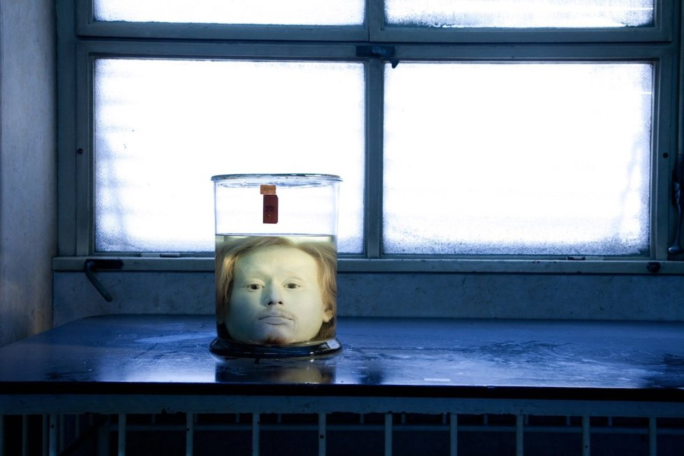 The head of serial killer Diogo Alves in a glass jar.