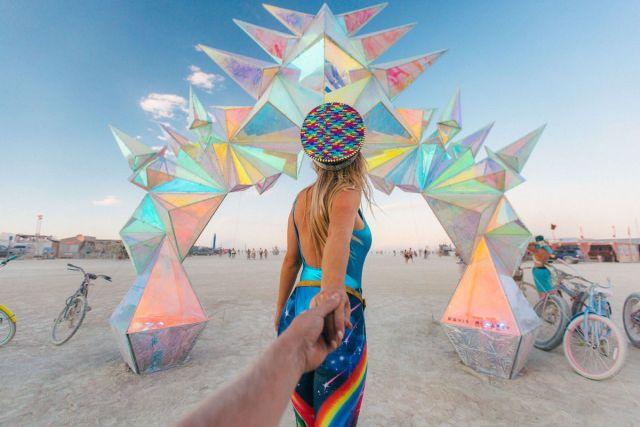 """Pulse Portal"" art installation by Davis McCarty, ""Burning Man"" 2016. Photo by Scott Sporleder"