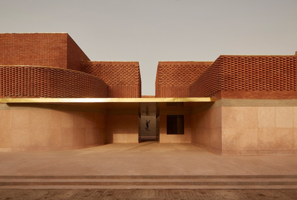 The exterior of Museum Yves Saint Laurent Marrakech, Morocco.