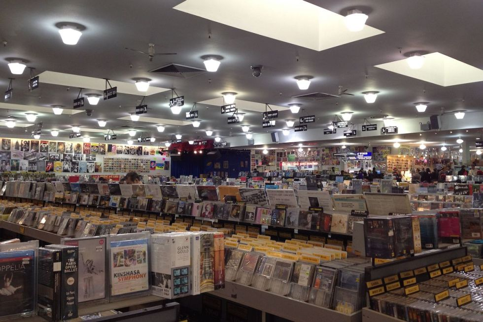 Inside of Amoeba Music in San Francisco, California