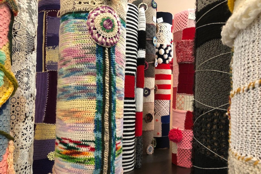 Immigrant Yarn Project totems