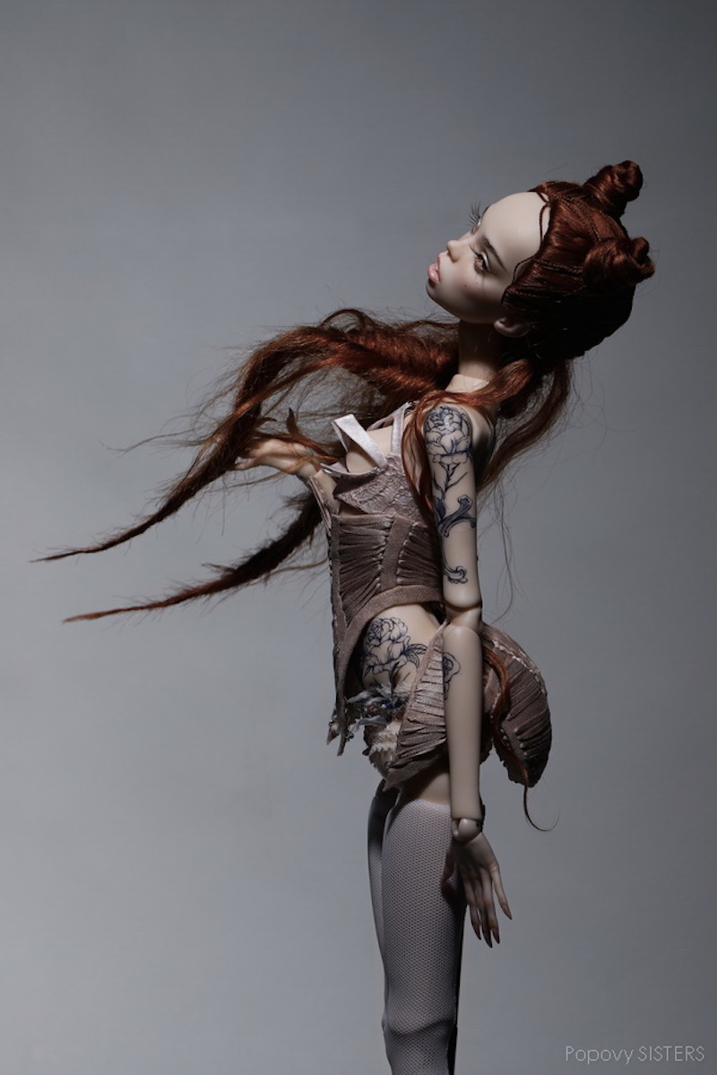 Popovy Sisters fine art doll created for Jean Paul Gaultier
