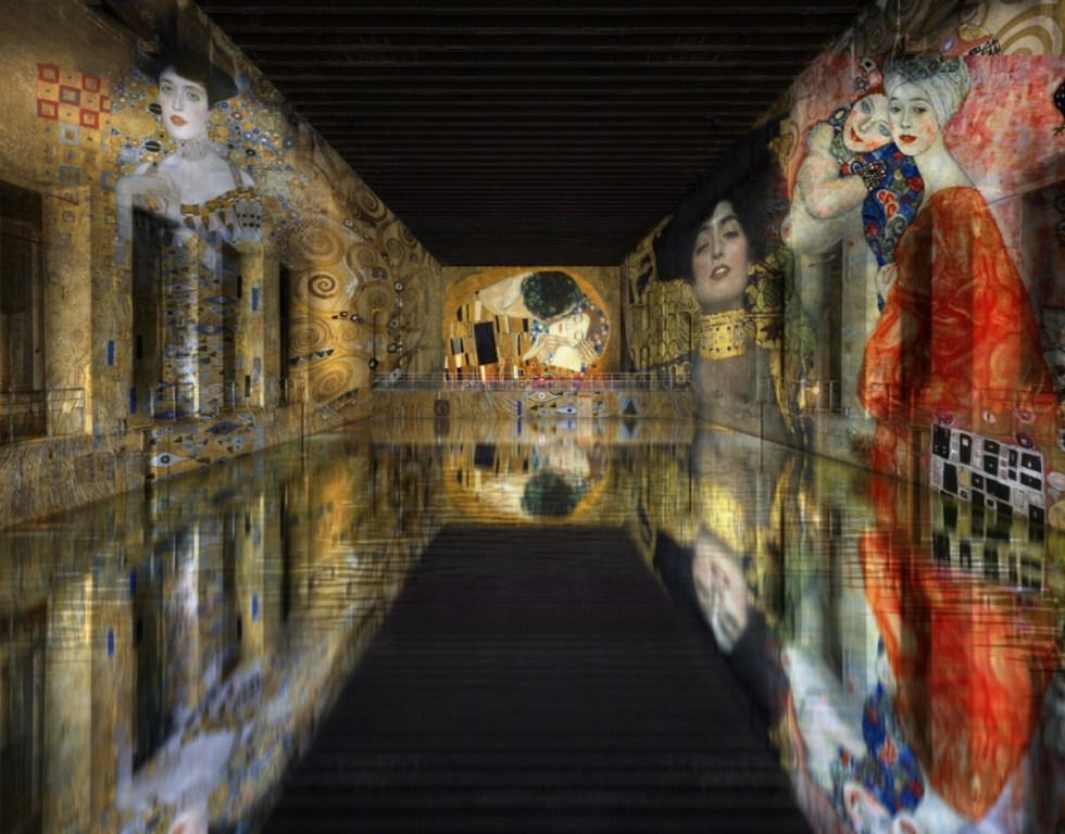 "Simulation of ""Klimt: gold and colour"""