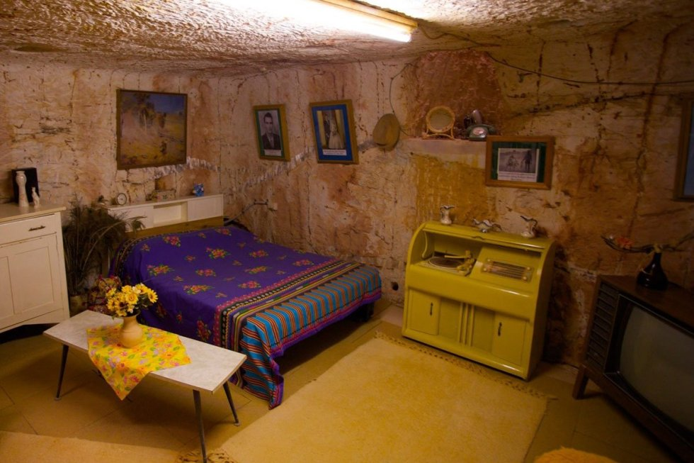 Bedroom of a dugout house