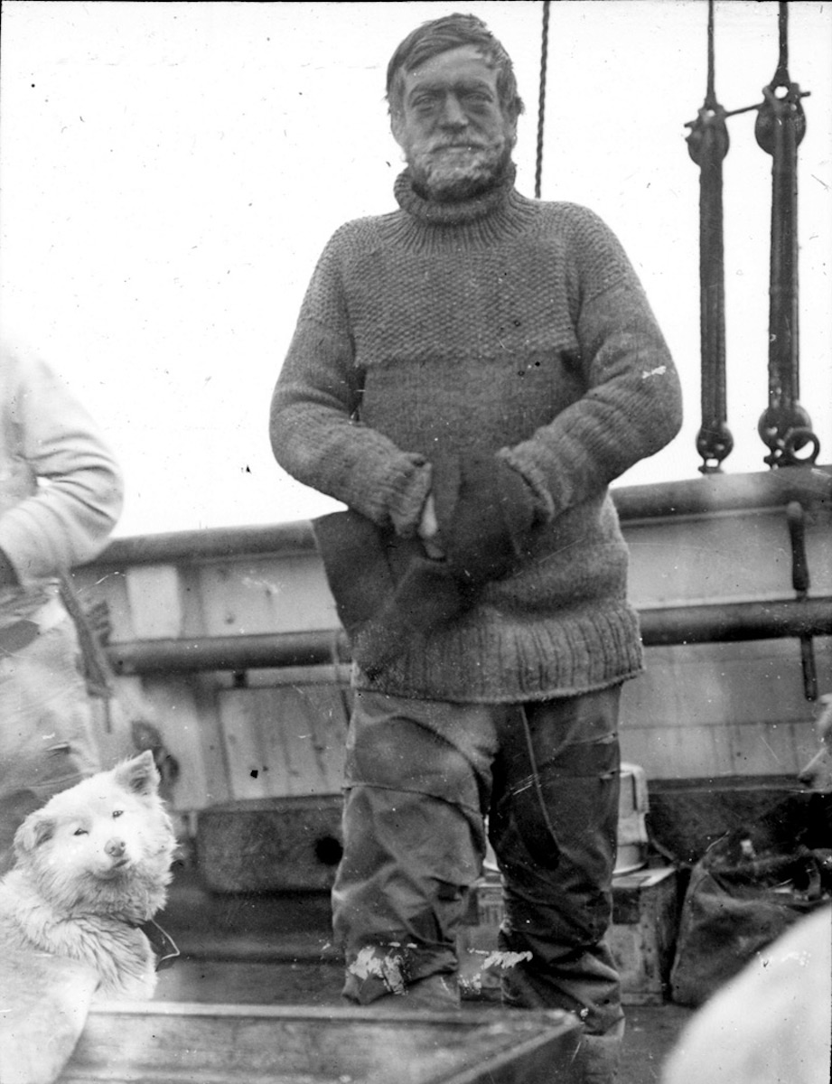 "Ernest Shackleton on the ""Nimrod"" in 1908"