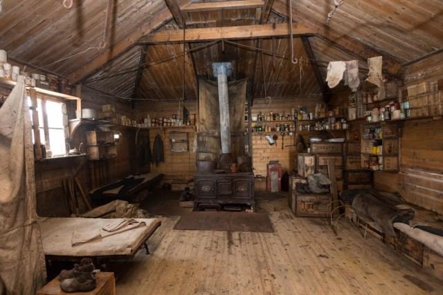 View of Shackleton's Antarctic hut interior