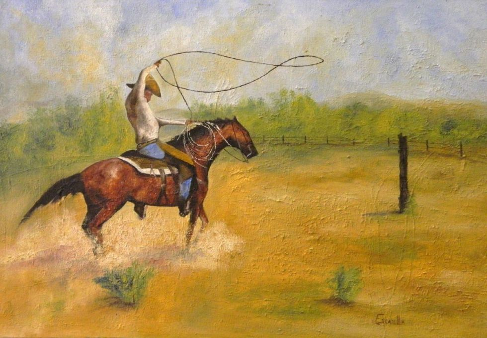 """Roping"" artwork created by Alberto Escamilla"
