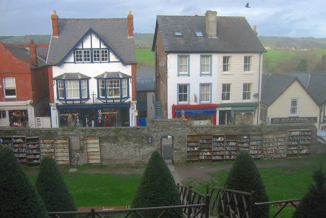 Books on display in Hay-on-Wye