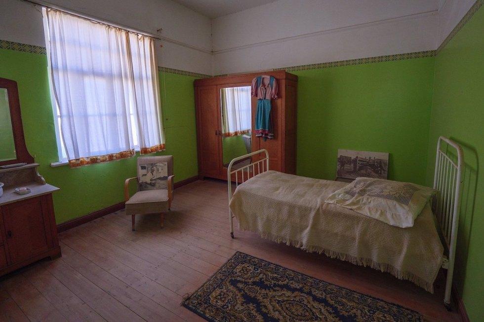 house museum in the ghost town of Kolmanskop, near Luderitz, Namibia