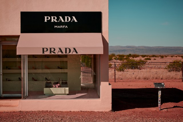 Prada Marfa art installation in Texas