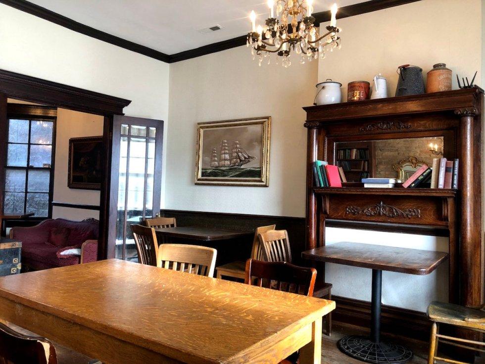 Bourgeois Pig Café interior décor details