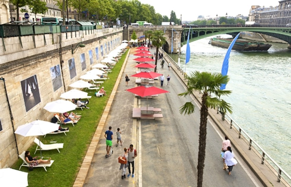 Parc Rives de Seine in Paris, France