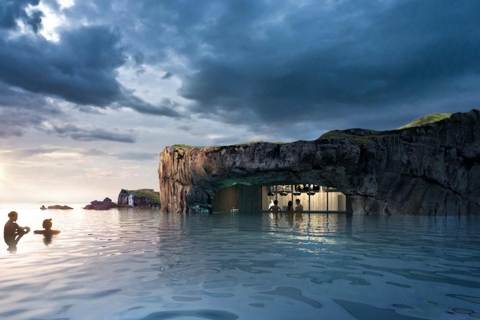 Sky Lagoon bar