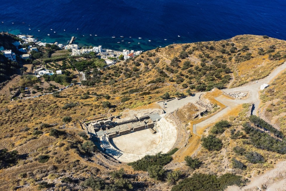 Ancient Theater of Milos Greece