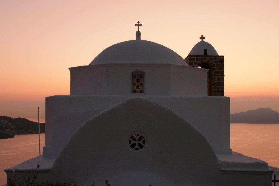 church Kastro Milos Greece
