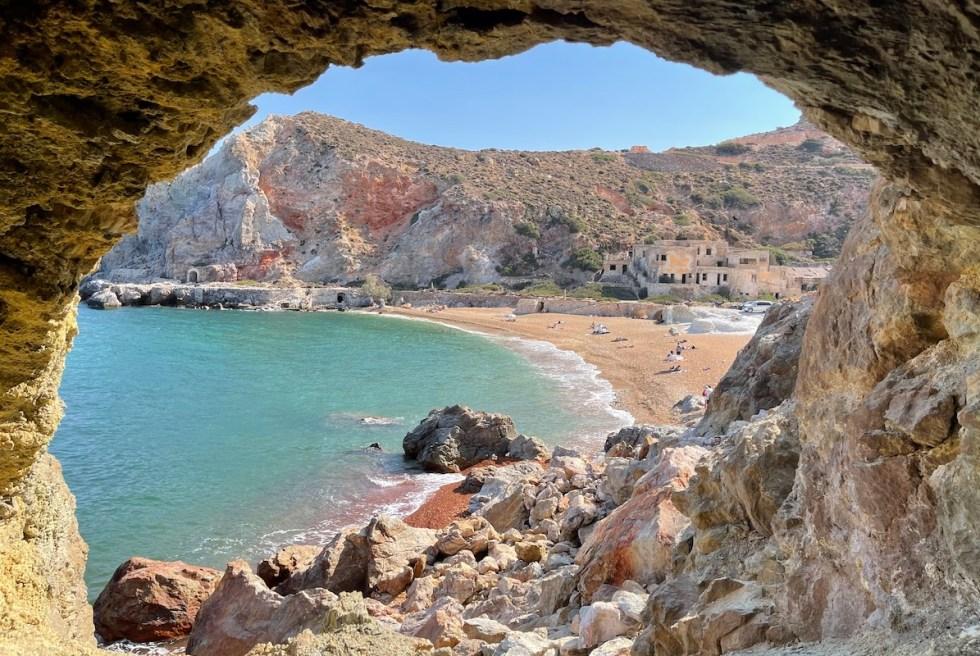 Thiorichia Beach in Milos Greece