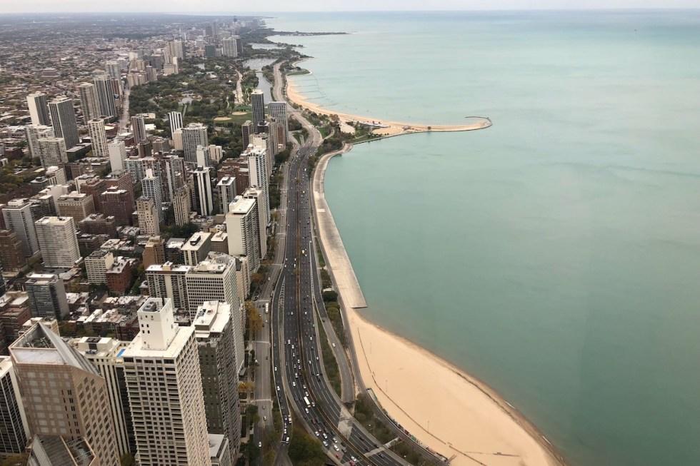 View to North Avenue Beach