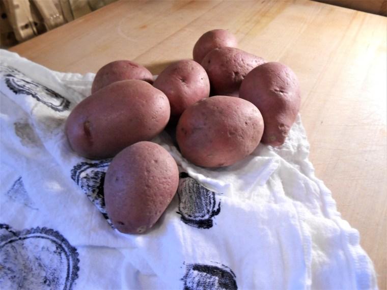 potatoes, vegan eating, healthy living, red potatoes