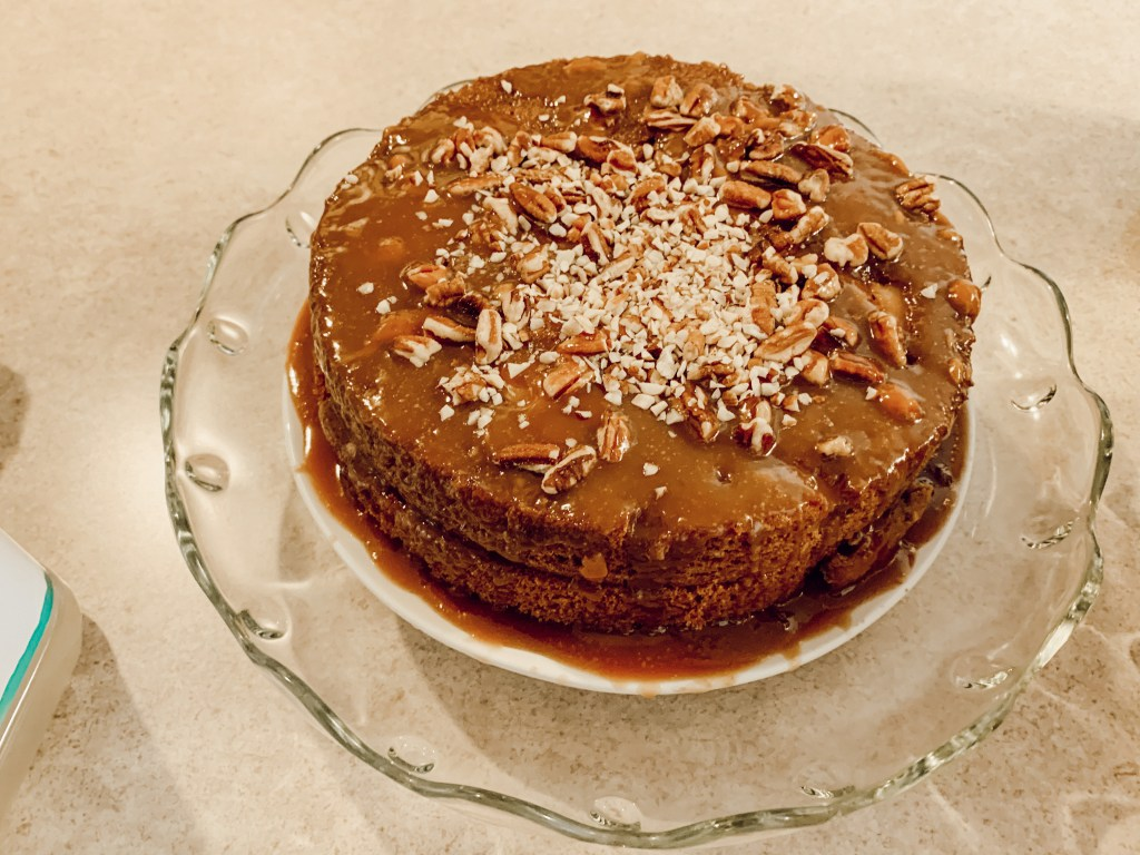 caramel apple cake, pecans, hazelnuts, apples, simple functional grace-filled living, katina horton, food photography, cakes, baking, Mother's Day