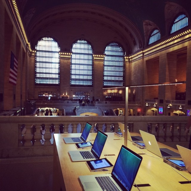 Apple Store, Grand Central — I love you.