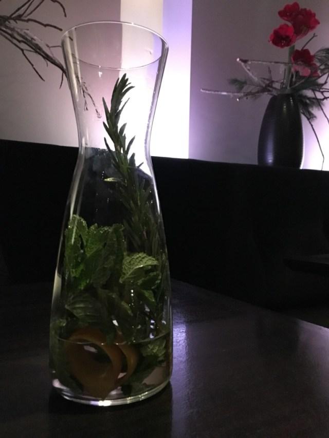 Rosemary, mint and orange zest mixed with 2012 Avinyó Reserv Brut