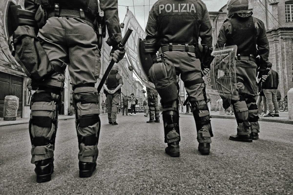 group of police on street