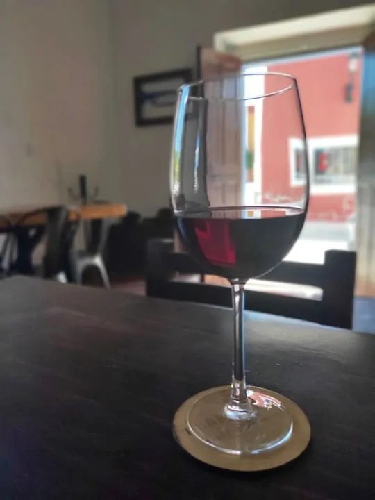 A glass of red wine from Terragona